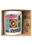 Bohemia Gifts Keramický hrnek s potiskem Coffee - retro 350 ml
