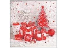 Aha Vánoční papírové ubrousky 3 vrstvé 33 x 33 cm 20 kusů