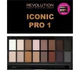 Makeup Revolution Iconic Pro 1 Palette paletka očních stínů 16 g