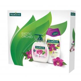 Palmolive Exotic Orchid tekuté mýdlo 300 ml + sprchový gel 250 ml, kosmetická sada