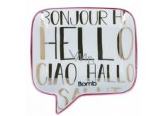 Bomb Cosmetics Hello, Ciao, Bonjour Soap Dish Keramická miska na mýdlo 12,5 x 12,5 cm