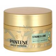 Pantene Strong & Long Bambus a Biotin obnovující keratinová maska proti vypadávání vlasů 160 ml