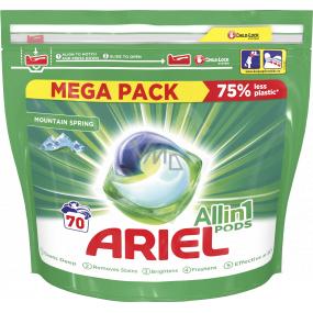 Ariel All in 1 Pods Mountain Spring gelové kapsle na praní prádla 70 kusů x 35 ml