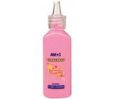 Amos Barvy na sklo 22 ml s konfetami - Růžová