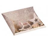 Krabička skládací dárková Vánoční s koníkem a glitrem 33 x 25 cm