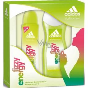 Adidas Fizzy Energy sprchový gel 250 ml + deodorant sprej 150 ml, kosmetická sada