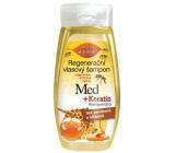 Bione Cosmetics Med a Keratin Q10 Koenzym regenerační šampon na vlasy 260 ml