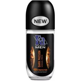 Fa Men Dark Passion kuličkový deodorant roll-on pro muže 50 ml