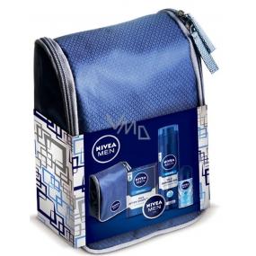 Nivea Original gel na holení 200 ml + Mild balzám po holení 100 ml + Fresh Active kuličkový antiperspirant deodorant roll-on 40 ml + Univerzální krém pro muže 30 ml + kosmetická taštička,pro muže kosmetická sada
