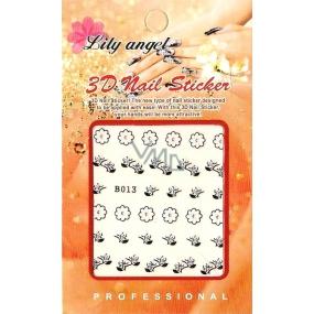 Lily Angel 3D nálepky na nehty 10120 B013 1 aršík