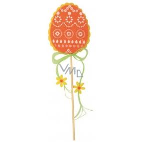 Vajíčko z filcu oranžové 8 cm + špejle