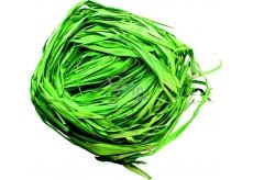 Raffia zelená nabarvené lýko k dekoraci 30 g