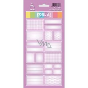 Arch Samolepky do domácnosti Pastelový set fialový 3565 12 etiket