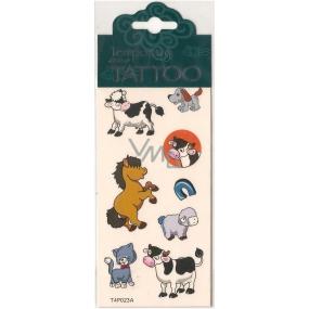 Tetovací obtisky dětské zvířátka T4P023A 7,5 x 15 cm