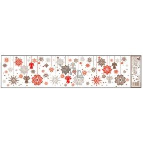 Room Decor Okenní fólie bez lepidla Barevné visící ozdoby, pruhy č.2 64 x 15 cm