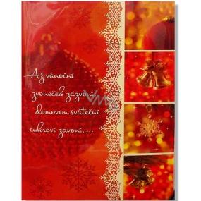Albi Hrací přání do obálky Až vánoční zvoneček zazvoní Zvonky štěstí Karel Gott a Darina Rolincová 14,8 x 21 cm