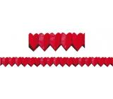 Girlanda Srdíčka červená malá 400 x 8 cm