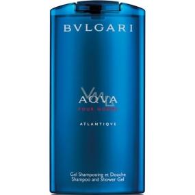Bvlgari Aqva pour Homme Atlantiqve 2v1 sprchový gel a šampon 200 ml