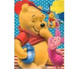 Ditipo Disney Dárková papírová taška pro děti L Medvídek Pú, prasátko, vosy 26 x 13,7 x 32,4 cm 2902 009