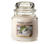 Yankee Candle Sea Salt & Sage - Mořská sůl a šalvěj vonná svíčka Classic střední sklo 411 g