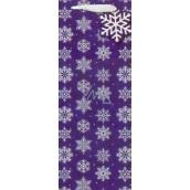 Nekupto Dárková papírová taška na láhev 33 x 13 cm Vánoční 1521 WILH