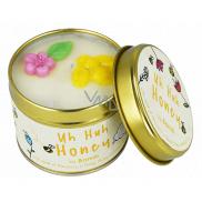 Bomb Cosmetics Med - Uh Huh Honey Vonná přírodní, ručně vyrobena svíčka v plechové dóze hoří až 35 hodin
