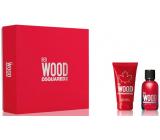 Dsquared2 Red Wood toaletní voda pro ženy 30 ml + tělové mléko 50 ml, dárková sada