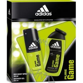 Adidas Pure Game sprchový gel 250 ml + deodorant sprej 150 ml, pro muže kosmetická sada