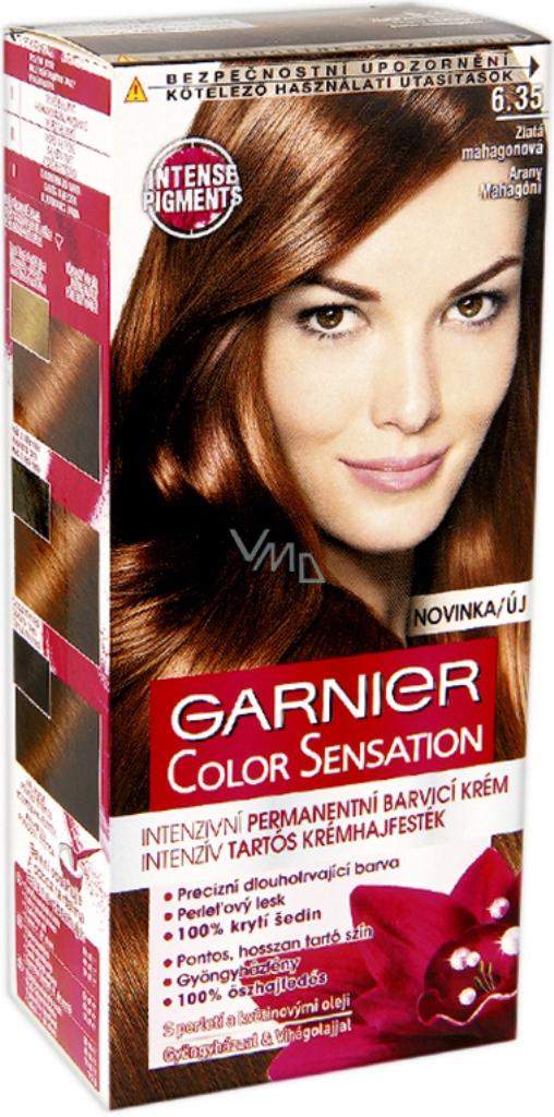 Garnier Color Sensation Barva Na Vlasy 6 35 Zlata Mahagonova Vmd