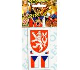 Arch Tetovací obtisky na obličej i tělo Česká vlajka 4 motiv