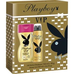 Playboy Vip for Her deodorant sprej pro ženy 150 ml + sprchový gel 250 ml, kosmetická sada