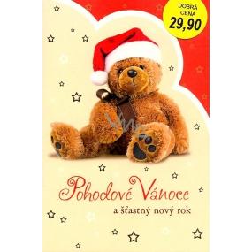 Nekupto Přání k Vánocům Pohodové Vánoce medvídek