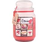 Bohemia Love dárková vonná svíčka ve skle doba hoření 105-120 hodin 510 g
