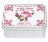 Le Blanc Rose - Růže přírodní mýdlo tuhé v krabičce 100 g