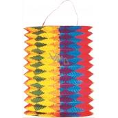 Lampion válec se svislými pruhy 15 cm