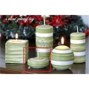 Lima Zimní třpyt Zelený čaj vonná svíčka plovoucí čočka 70 x 30 mm 1 kus