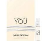 Giorgio Armani Emporio Because Its You parfémovaná voda pro ženy 1,2 ml s rozprašovačem, Vialka