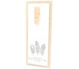 Nekupto Home Decor Dřevěná deska s kolíčkem bílá 30 x 12 cm