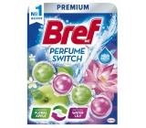 Bref Perfume Switch Floral Apple & Water Lily WC blok s vůní jablka a lilie efekt změny vůně 50 g