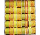 Ditipo Stuha látková s drátkem hořčicová 3 m x 25 mm