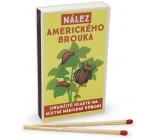 Nekupto Originální zápalky v retro stylu Nález amerického brouka okamžitě hlaste na místní národní výbor! 45 kusů