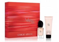 Giorgio Armani Sí parfémovaná voda pro ženy 30 ml + sprchový gel 75 ml, dárková sada