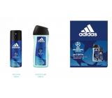 Adidas UEFA Champions League Dare Edition VI deodorant sprej pro muže 150 ml + sprchový gel 250 ml, kosmetická sada