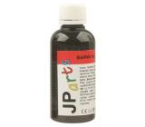 JP arts Barva na textil na světlé materiály, glitrová 12. Černá 50 g