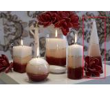 Lima Verona svíčka vínová jehlan 75 x 250 mm 1 kus