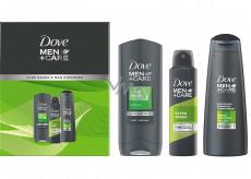Dove Men + Care Extra Fresh sprchový gel 250 ml + antiperspirant deodorant sprej 150 ml + 2v1 šampon na vlasy 250 ml, kosmetická sada