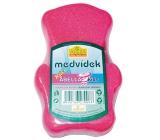 Abella Medvídek Kids koupelová houba pro děti různé barvy 12 cm 1 kus