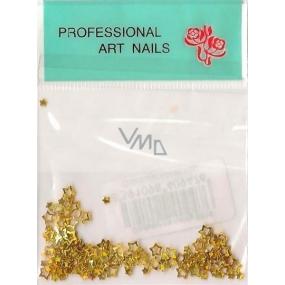 Professional Art Nails ozdoby na nehty hvězdičky zlaté 1 balení