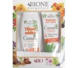 Bione Cosmetics Cannabis tělové mléko 500 ml + balzám na ruce 200 ml, kosmetická sada