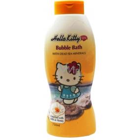 Hello Kitty Milk & Honey pěna do koupele pro děti s minerály z Mrtvého moře 750 ml